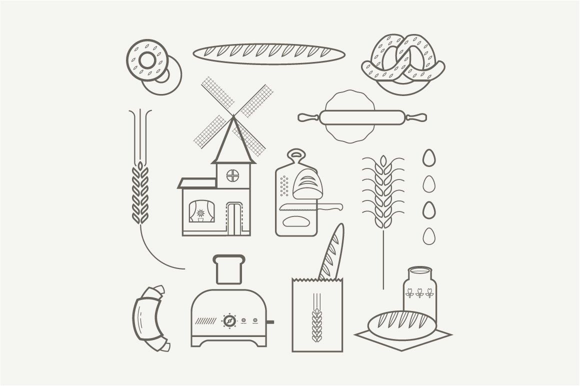 Vector bread icons ~ Graphics on Creative Market