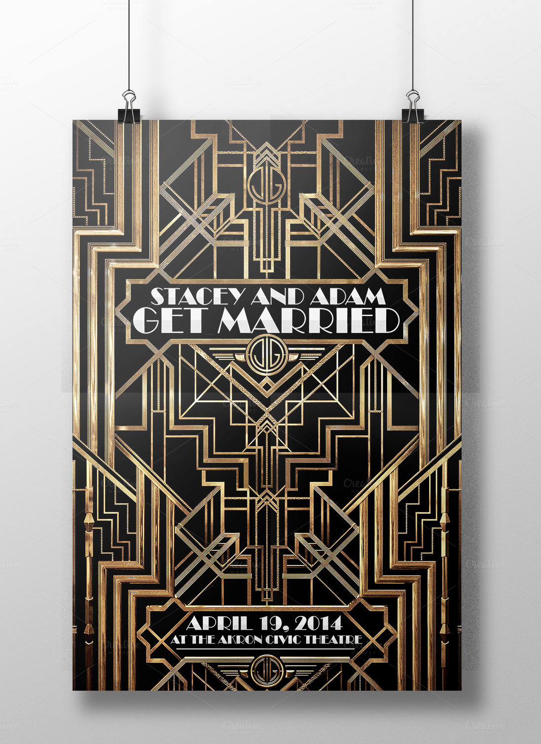 THE GREAT GATSBY FLYER (WEDDINGS) ~ Flyer Templates on ...