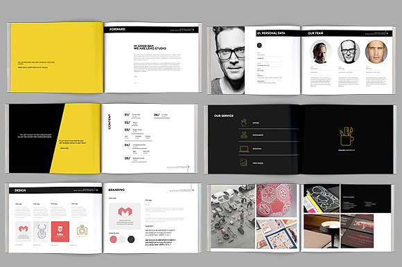 Download professional cv booklet greenish cv psd for Graphic designer portfolio template free download