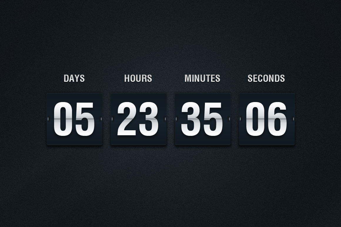 Countdown Counters and Timers - Time and Date