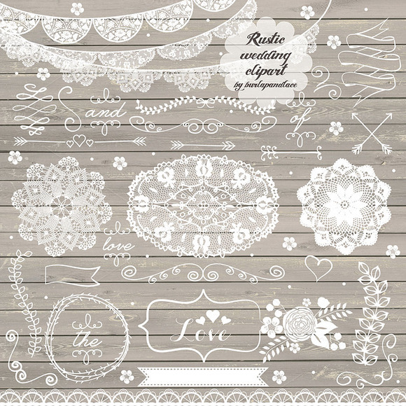 Rustic wedding ~ Illustrations on Creative Market
