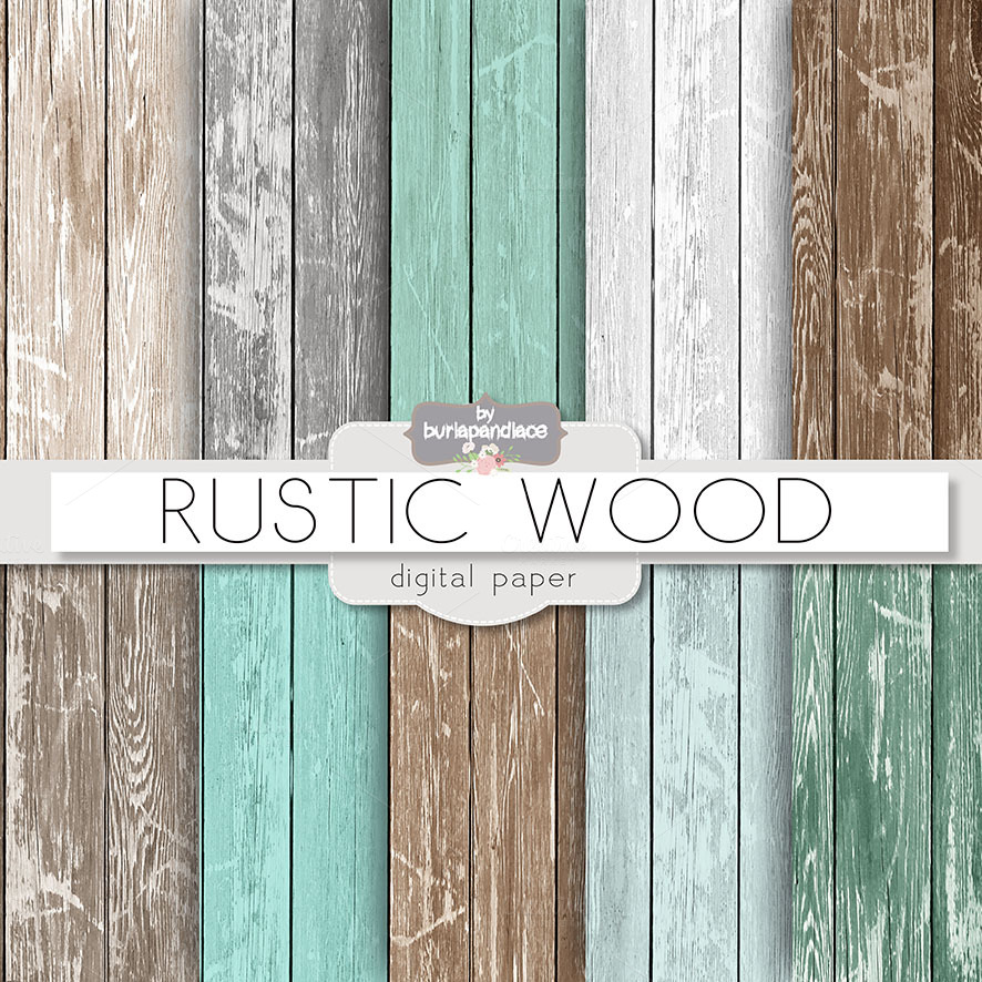 Rustic wood teal patterns on creative market