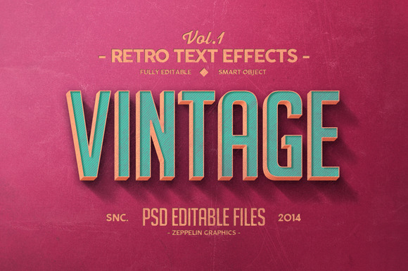 Vintage Text Effects Vol.1 - Add-Ons - 1
