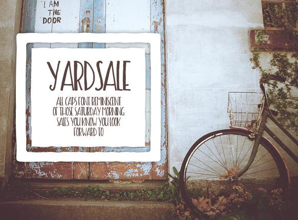 Yard Sale Fonts On Creative Market
