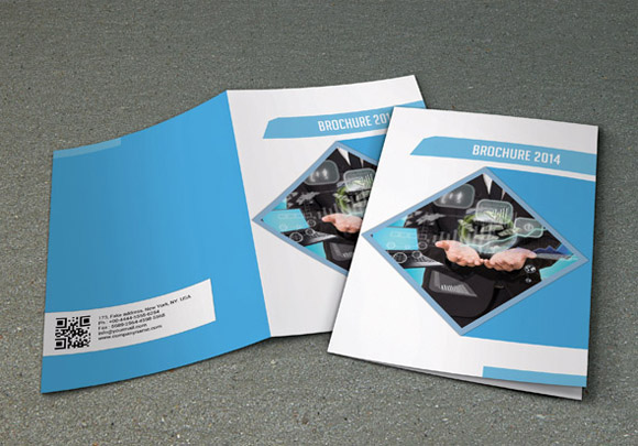 Bi fold business brochure v16 brochure templates on for Corporate bi fold brochure template