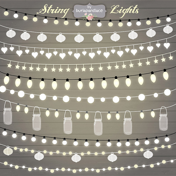 String Lights Clipart ~ Illustrations on Creative Market