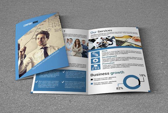 Bi Fold Brochure Template Sistec