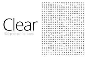 Clear - 500 Icons (Designer)