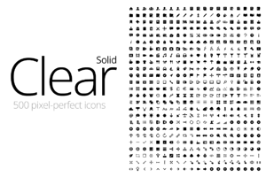 Clear Icons - Solid (500 Icons)