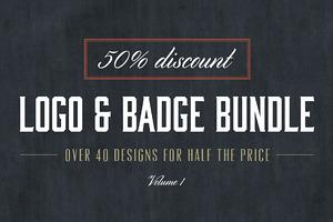 Vintage Logo & Badge Bundle: 50% Off