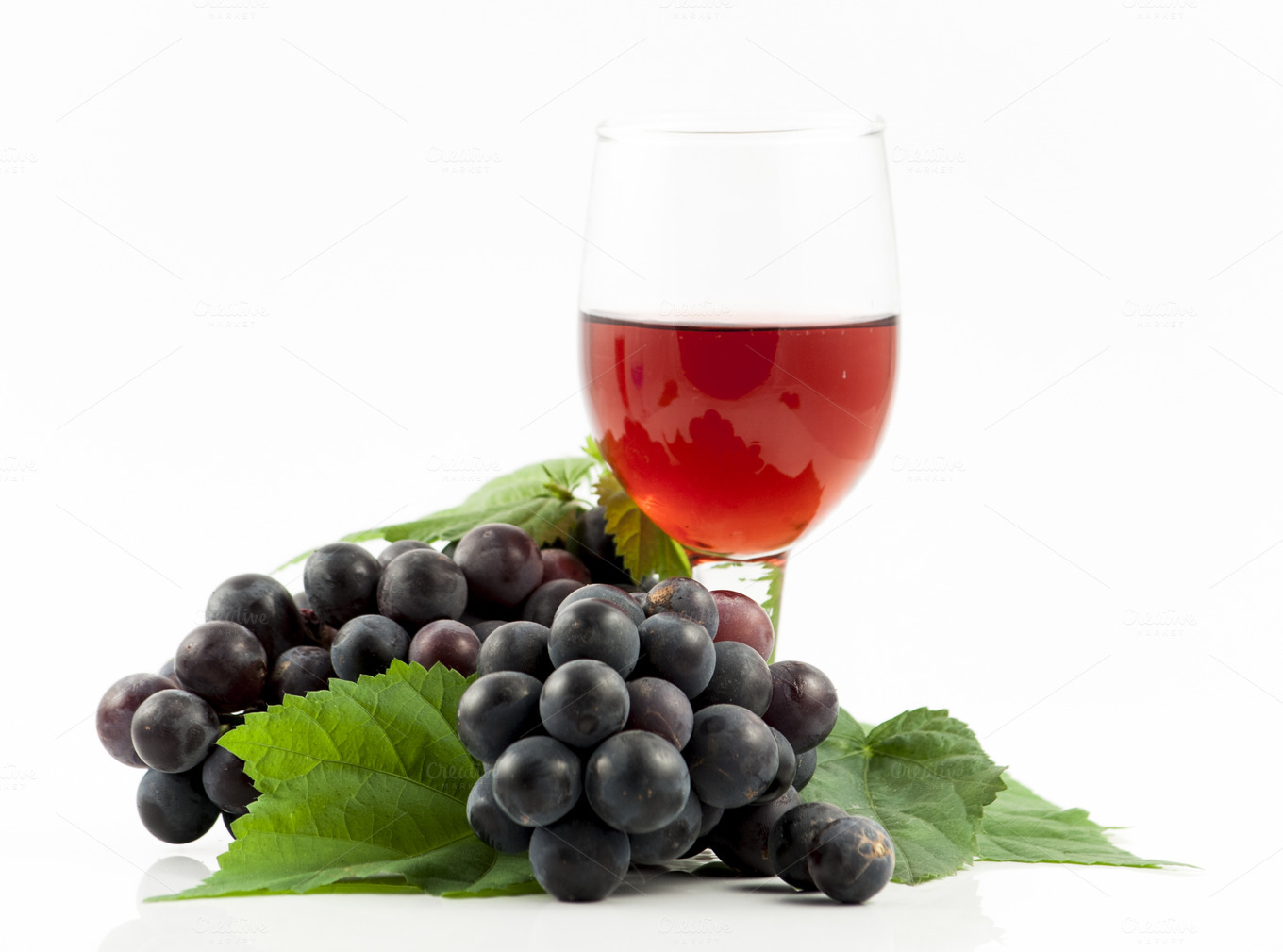 red wine glass with grapes ~ Food & Drink Photos on ...