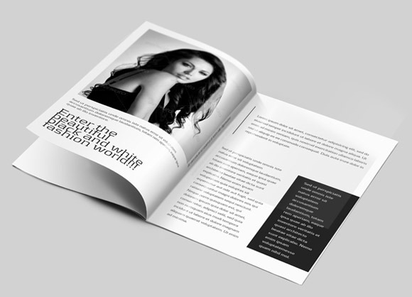 B&W Brochure for Photography