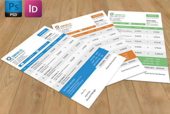 invoice template pages – residers, Invoice templates