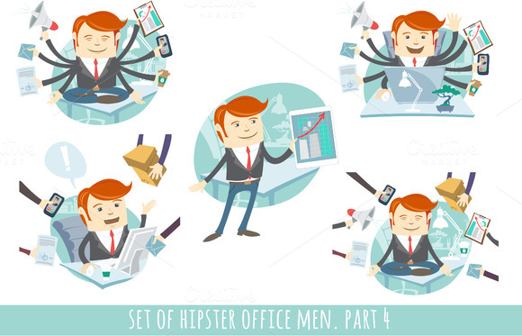 Office men set. Part 4 - Illustrations