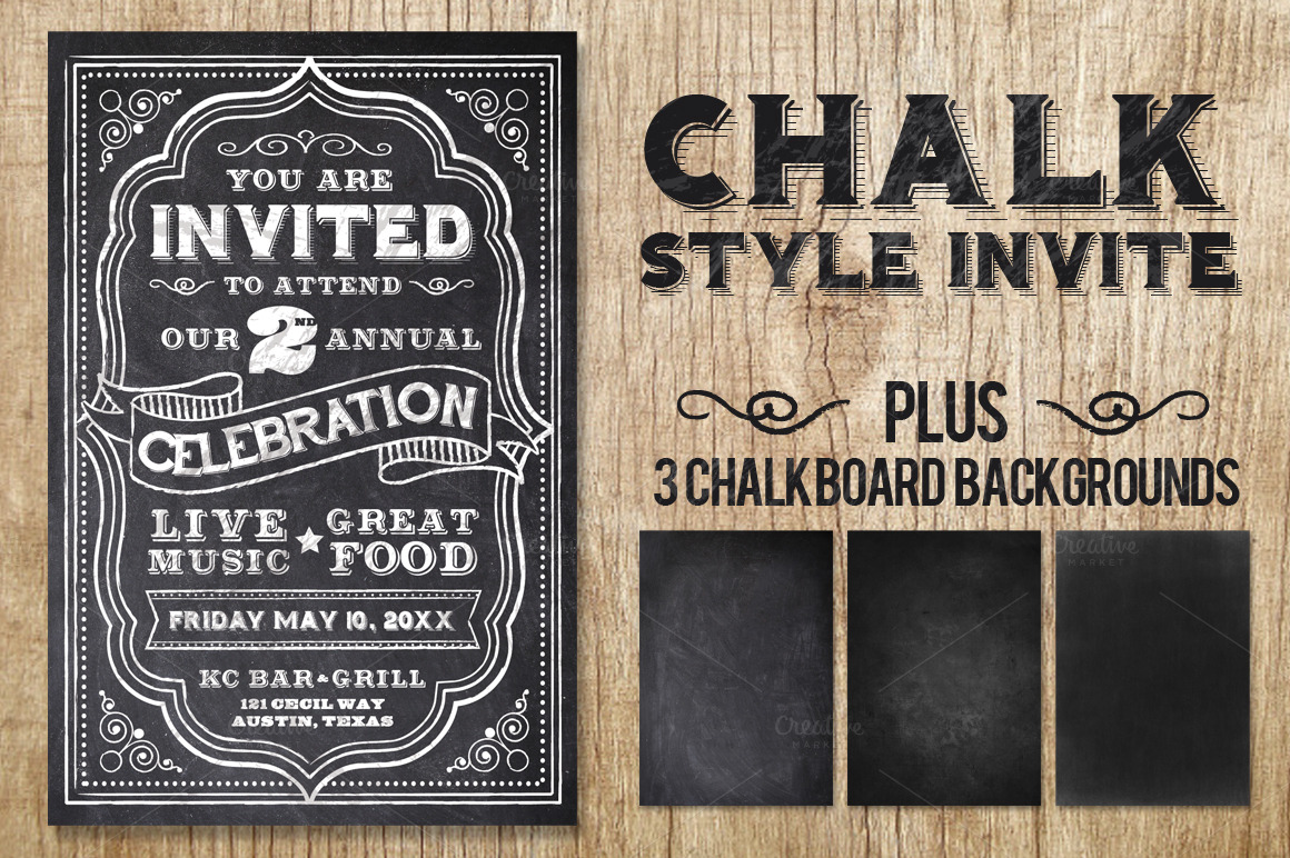 chalk flyer bundle pack flyer templates on creative market. Black Bedroom Furniture Sets. Home Design Ideas