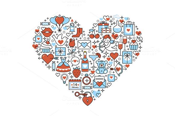 Love Heart Romantic Composition