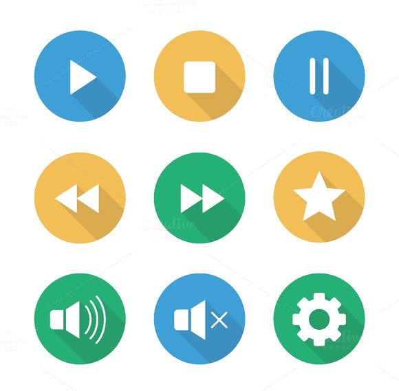 Multimedia icons. Vector - Icons