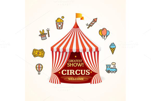 Circus Concept. Vector - Illustrations