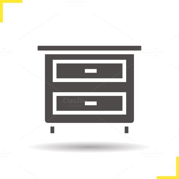Nightstand icon. Vector - Icons