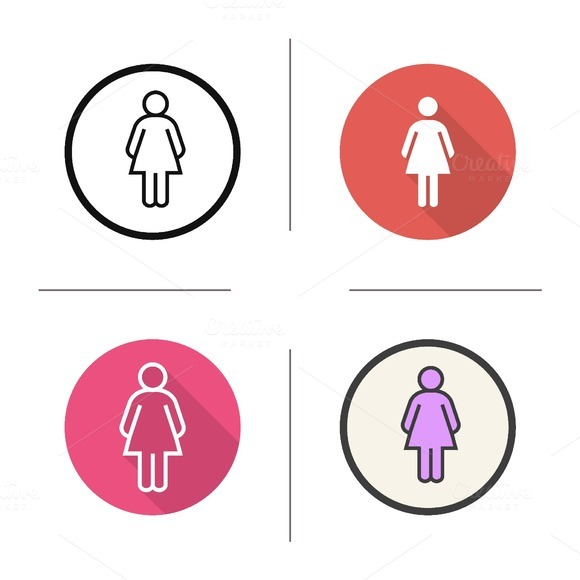 Woman. 4 icons. Vector - Icons