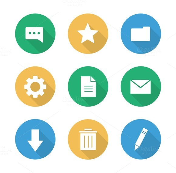Digital. 9 icons. Vector - Icons