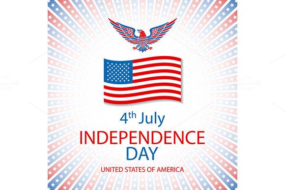 America Eagle Vector. flag USA - Graphics