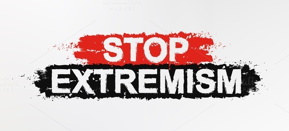 Stop extremism graffiti sign. Vector - Illustrations