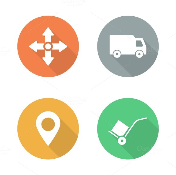 Delivery service. 4 icons. Vector - Icons