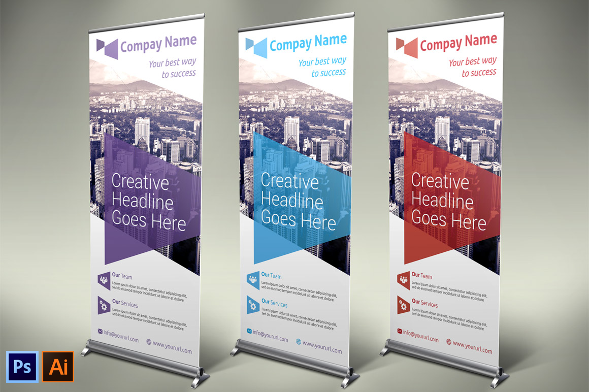 Business Roll-up Banner - Vol 06 ~ Presentation Templates ...