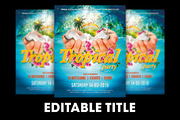 Tropical Party Flyer + FB B-Graphicriver中文最全的素材分享平台