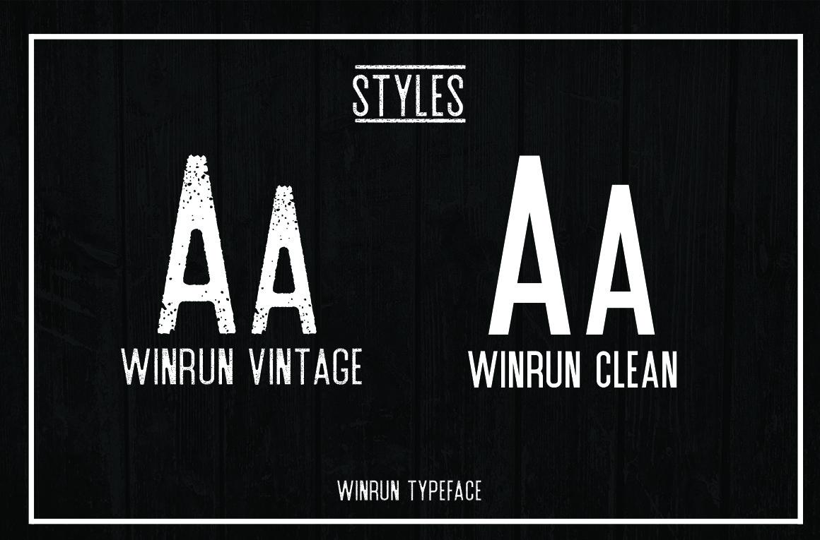 winrun typeface