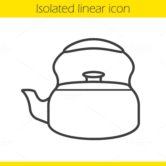 Kettle linear icon. Vector - Icons