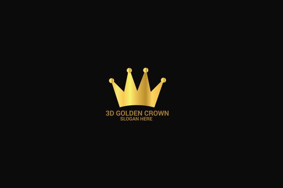3D Golden Crown Logo