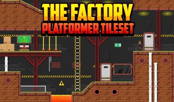 The Factory Platformer Tileset