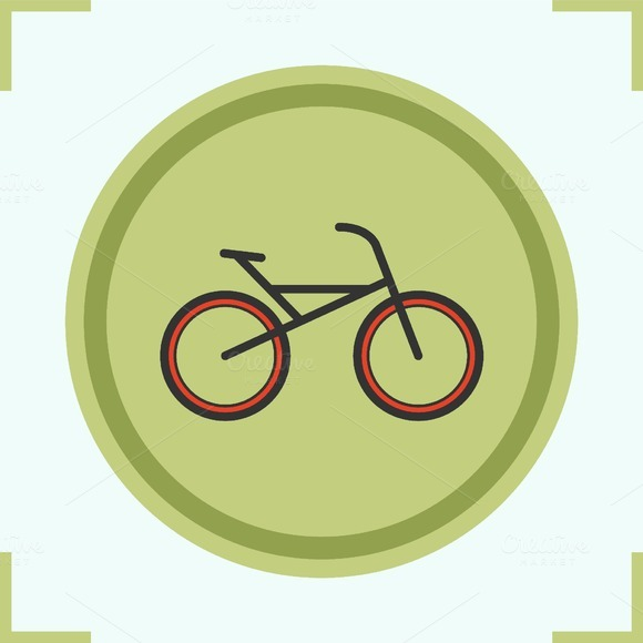 Bike color icon. Vector - Icons