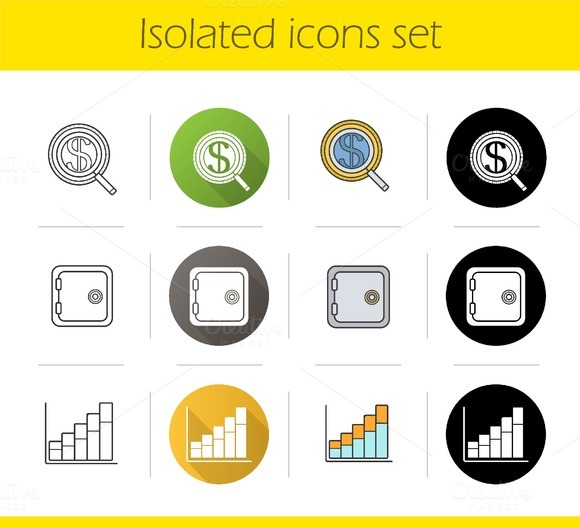 Banking and finance 12 icons. Vector - Icons