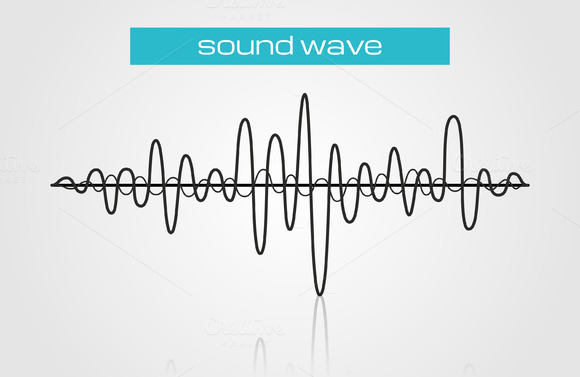 Sound Wave Music Design Element