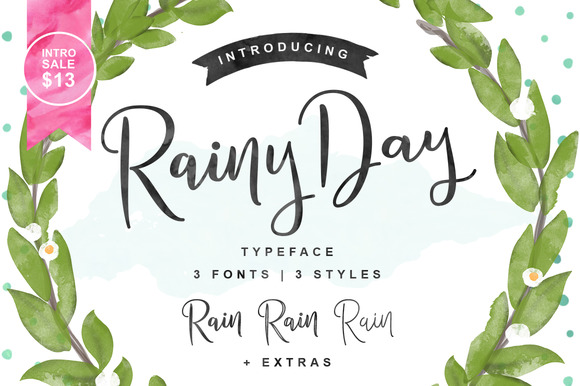 Rainy Day Script Font by ianmikraz