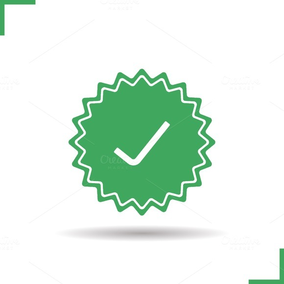 Approved sticker icon. Vector - Icons