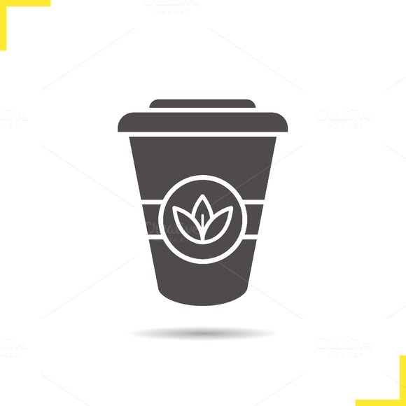 Tea paper cup icon. Vector - Icons