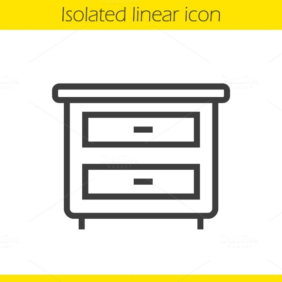 Nightstand linear icon. Vector - Icons