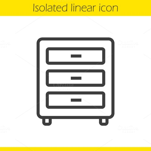 Dresser linear icon. Vector - Icons