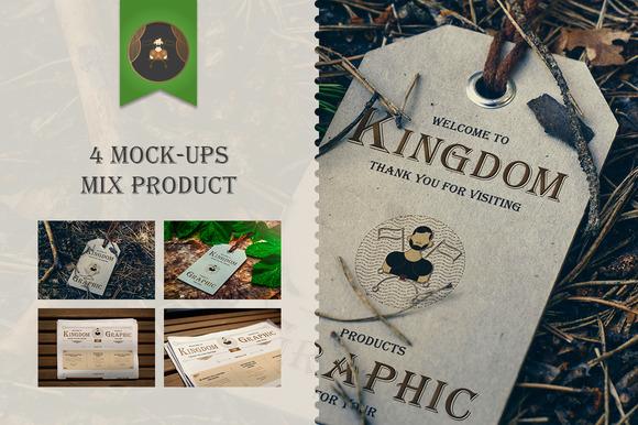 Mock-Up Mix product Vol.1 - Product Mockups