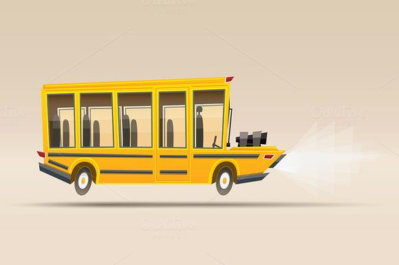 School Bus. Vector Illustration. - Illustrations