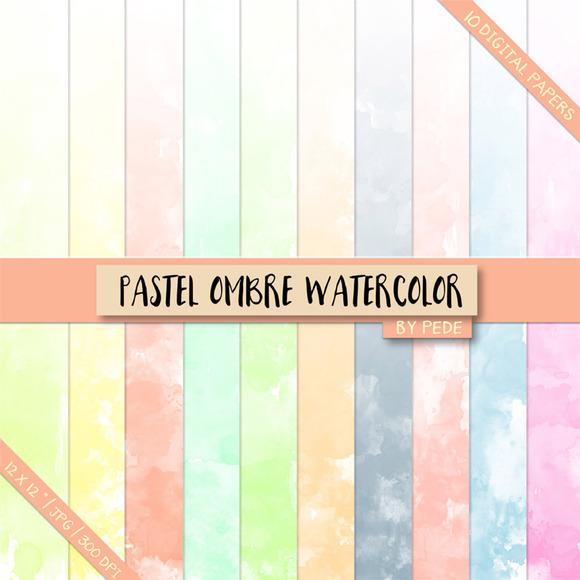 Pastel Ombre Watercolor