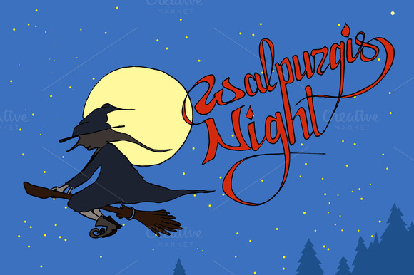 Walpurgis Night. Vector - Illustrations