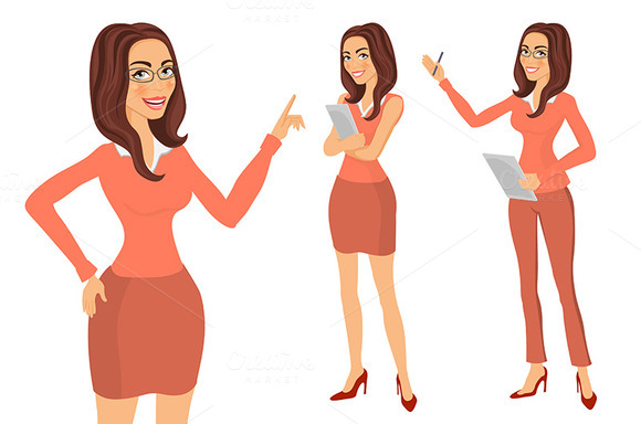 Business Girl. young women vector - Graphics