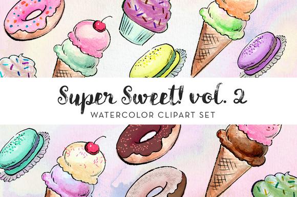 Super Sweet! Vol. 2 Clipart Set - Illustrations