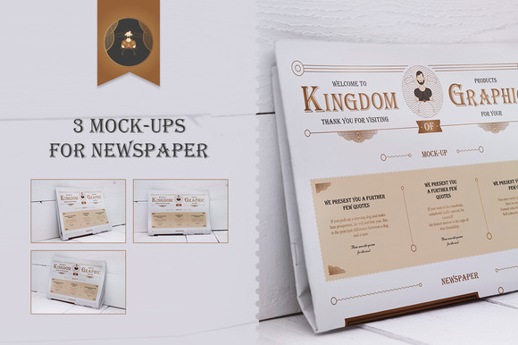 Mock-Up newspaper Vol.2 - Product Mockups