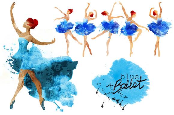 Blue ballet.watercolor - Graphics